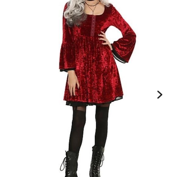 124edc27bd Hot Topic Dresses & Skirts - Red Velvet Christmas Holydays Romantic Goth  Dress